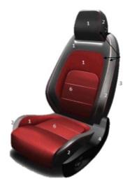 сидения r-sport fpace