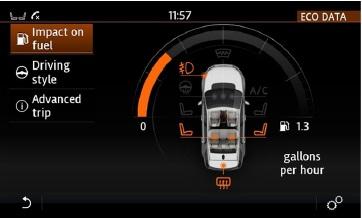 ECO данные (на изображении - экран Discovery Sport)